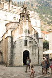 Cathédrale historique dans Kotor, Monténégro Photo stock