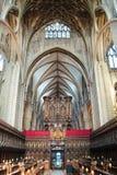 Cathédrale intérieure de Gloucester Photographie stock