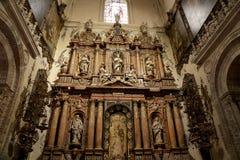 Cathédrale intérieure de Séville -- Cathédrale de St Mary du voir, Andalousie, Espagne photos libres de droits