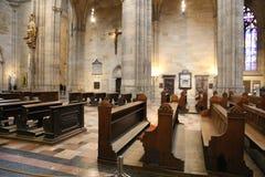 Cathédrale intérieure Prague Photo stock