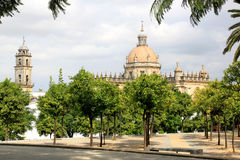 Cathédrale La Frontera de San Salvador, Jerez De Images stock