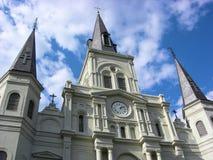 Cathédrale la Nouvelle-Orléans de St Louis Photos libres de droits