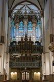 Cathédrale Lettonie de dôme de Riga Détail d'organe image stock