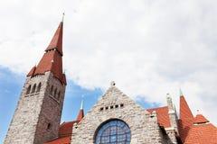 Cathédrale médiévale à Tampere, Finlande Photographie stock