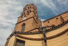 Cathédrale médiévale à Toulouse, France Images stock