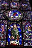 Cathédrale médiévale de Cantorbéry en verre souillé Photo stock
