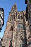 Cathédrale médiévale de Strasbourg en France Photographie stock libre de droits
