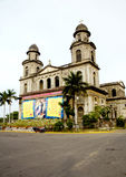 cathédrale Managua vieux Images libres de droits