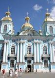 Cathédrale marine de Nikolsky, St Petersburg, Russie Photos libres de droits
