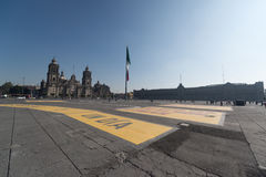 Cathédrale metropolitana de la ciudad de Mexique sur la place de Zocalo Photo stock