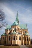 Cathédrale néogothique à Lodz Image libre de droits