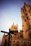 Cathédrale nationale au crépuscule Image libre de droits