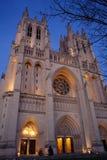 Cathédrale nationale au crépuscule Images libres de droits