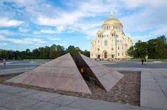 Cathédrale navale dans Kronshtadt, St Petersburg, Russie Photographie stock