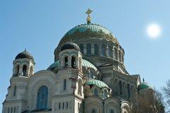 Cathédrale navale dans Kronstadt Photo libre de droits
