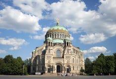 Cathédrale navale dans Kronstadt Photographie stock