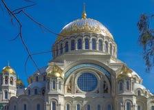Cathédrale navale de Nikolsky Images libres de droits