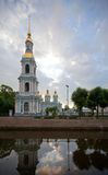 Cathédrale navale de Saint-Nicolas à St Petersburg Photo libre de droits