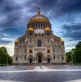Cathédrale navale de Saint-Nicolas, Kronstadt Photos stock