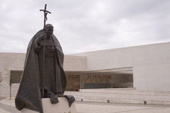 Cathédrale neuve en Fatima Portugal Photo stock