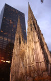 Cathédrale New York de rue Patricks image stock