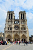 Cathédrale Notre Dame de París Fotos de archivo libres de regalías