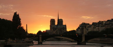 Cathédrale Notre Dame de Paris Foto de Stock Royalty Free