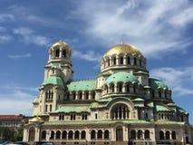 Cathédrale orthodoxe d'Alexander Nevsky de saint à Sofia, Bulgarie Image stock