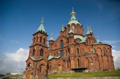 Cathédrale orthodoxe d'Uspensky, Finlande Image libre de droits