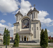 Cathédrale orthodoxe dans Drobeta Turnu-Severin, Photographie stock