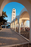 Cathédrale orthodoxe dans Fira sur Santorini, Grèce Photographie stock