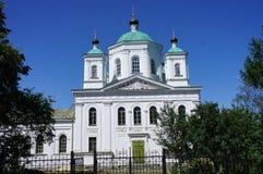 Cathédrale orthodoxe dans la ville glorieuse de Kashin, région de Tver Photographie stock libre de droits