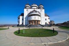 Cathédrale orthodoxe dans Mioveni, Roumanie images libres de droits