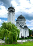 Cathédrale orthodoxe en Roumanie image libre de droits