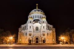 Cathédrale orthodoxe la nuit, HDR Images libres de droits