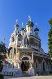 Cathédrale orthodoxe russe dans la ville de Nice, Frances Photographie stock libre de droits
