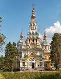 Cathédrale orthodoxe russe en parc de Panfilov, photo stock