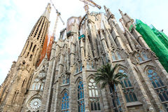 Cathédrale ou Sagrada Familia de Barcelone Image stock