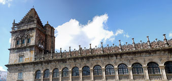 Cathédrale panoramique de Santiago de Compostela Image libre de droits