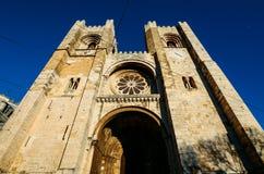 Cathédrale patriarcale de St Mary Major, Santa Maria Maior de Lisboa ou expert en logiciel De Lisbonne, à Lisbonne, le Portugal images libres de droits