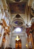 Cathédrale pilaire d'EL dans la ville Espagne de Zaragoza d'intérieur Images stock