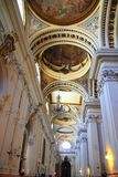 Cathédrale pilaire d'EL dans la ville Espagne de Zaragoza d'intérieur Image stock
