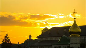 Cathédrale russe, posad de sergiev, religion, église banque de vidéos