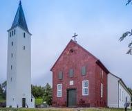 Cathédrale rustique isolée dans Holar Islande - 2 Photos libres de droits