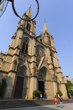 Cathédrale sacrée de coeur de Shishi dans Guangzhou, Chine Photos stock