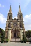 Cathédrale sacrée de coeur de Shishi, ville de Canton, porcelaine Images libres de droits