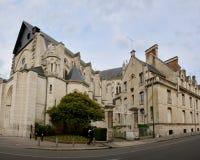 Cathédrale Sainte-Croix d'Orléans - Jean D Arc  street. View  of Cathédrale Sainte-Croix d'Orléans in Orleans, France Royalty Free Stock Images