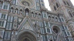 Cathédrale Santa Maria del Fiore, Toscane, Italie de Florence banque de vidéos