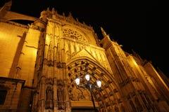 Cathédrale Santa Maria la nuit images libres de droits
