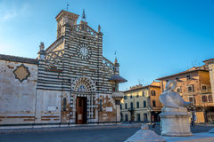 Cathédrale Santo Stefano de Prato en Italie photographie stock